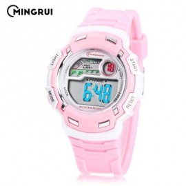 image of MINGRUI MR - 8582033 CHILDREN DIGITAL LED WATCH (PINK) 0