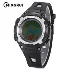 image of MINGRUI MR - 8529019 CHILDREN DIGITAL WATCH 3ATM LED CALENDAR CHRONOGRAPH KIDS WRISTWATCH (BLACK) 0