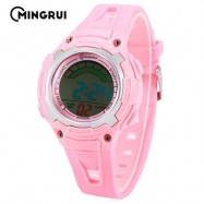 image of MINGRUI MR - 8529019 CHILDREN DIGITAL WATCH 3ATM LED CALENDAR CHRONOGRAPH KIDS WRISTWATCH (PINK) 0