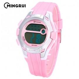 image of MINGRUI MR - 8561112 KIDS DIGITAL WATCH LED CALENDAR STOPWATCH ALARM CHILDREN WRISTWATCH (PINK) 0