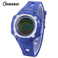 image of MINGRUI MR - 8529019 CHILDREN DIGITAL WATCH 3ATM LED CALENDAR CHRONOGRAPH KIDS WRISTWATCH (BLUE) 0
