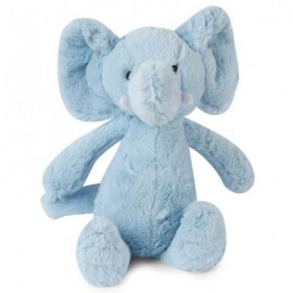 image of STUFFED CUTE ELEPHANT PLUSH DOLL TOY GIFT FOR BABY (LIGHT BLUE) -