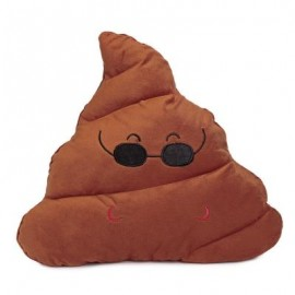 image of CUTE POOP EXPRESSION COOL EMOTICON PILLOW STUFFED PLUSH TOY HOME DECORATION CHRISTMAS GIFT (CHOCOLATE) -
