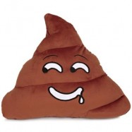 image of CUTE POOP EXPRESSION DROOL EMOTICON PILLOW STUFFED PLUSH TOY HOME DECORATION CHRISTMAS GIFT (CHOCOLATE) -