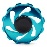 image of STRESS RELIEF FIDDLE TOY WHEEL FINGER SPINNER (BLUE) -