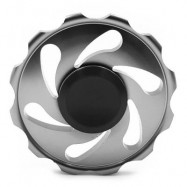 image of STRESS RELIEF FIDDLE TOY WHEEL FINGER SPINNER (GRAY) -