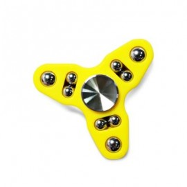 image of TRIANGLE GYRO STYLE STRESS RELIEVER PRESSURE REDUCING TOY FOR OFFICE WORKER (YELLOW) -