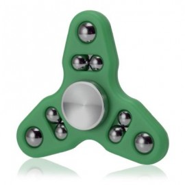 image of TRIANGLE GYRO STYLE STRESS RELIEVER PRESSURE REDUCING TOY FOR OFFICE WORKER (GREEN) -