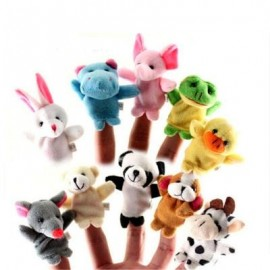 image of HAND PUPPET PUZZLE TOYS CUTE CARTOON ANIMAL FINGER SOFT TOYS DOLLS 10PCS (COLORMIX) 0