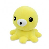 image of SOFT STUFFED PLUSH OCTOPUS TOY BABY KIDS PLAYTHING (YELLOW) 0