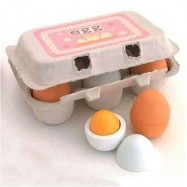 image of WOODEN KITCHEN TOYS FOR GIRLS KIDS PRETEND PLAY FOOD EGGS (MIXCOLOR) 0