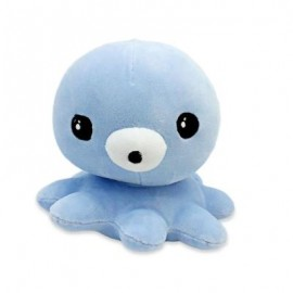 image of SOFT STUFFED PLUSH OCTOPUS TOY BABY KIDS PLAYTHING (BLUE) 0