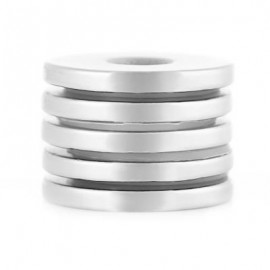 image of 5PCS 25 X 25 X 3MM N38 STRONG NDFEB ROUND MAGNET WITH COUNTER SINK HOLE BIRTHDAY DIY INTELLIGENT GIFT (SILVER) 25 X 25 X 3 MM