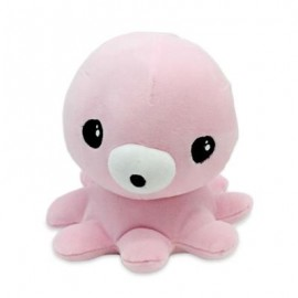 image of SOFT STUFFED PLUSH OCTOPUS TOY BABY KIDS PLAYTHING (PINK) 0
