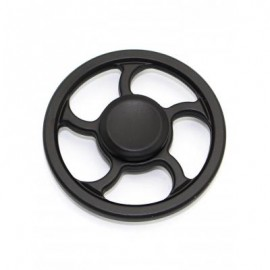 image of WHEEL FINGERTIP SPINNING TOP FINGER GYRO FOCUS TOY STRESS RELIEVER (BLACK) -