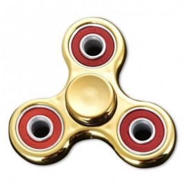 image of TRIANGLE FINGER GYRO STRESS RELIEF TOY FIDGET SPINNER (YELLOW) -