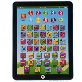 image of KIDS CHILDREN ENGLISH LEARNING PAD TOY EDUCATIONAL COMPUTER TABLET (BLUE) One Size