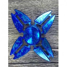 image of FOUR LEAVES DART SHAPE FOCUS TOY FIDGET HAND SPINNER (BLUE) -