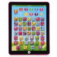image of KIDS CHILDREN ENGLISH LEARNING PAD TOY EDUCATIONAL COMPUTER TABLET (PINK) One Size