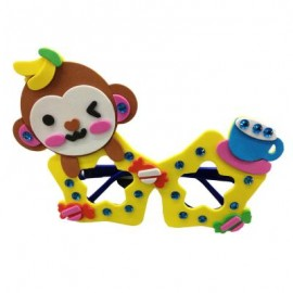 image of CHILDREN CARTOON STEREOSCOPIC GLASSES HANDMADE STICKUP EDUCATIONAL TOY (YELLOW, MONKEY) Monkey