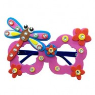 image of CHILDREN CARTOON STEREOSCOPIC GLASSES HANDMADE STICKUP EDUCATIONAL TOY (ROSE RED, DRAGONFLY) Dragonfly