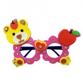 image of CHILDREN CARTOON STEREOSCOPIC GLASSES HANDMADE STICKUP EDUCATIONAL TOY (ROSE RED, BEAR) Bear