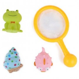 image of BABY CARTOON ANIMAL BATH SPRAY WATER PADDLE TOY (COLORMIX) -