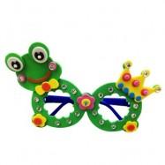 image of CHILDREN CARTOON STEREOSCOPIC GLASSES HANDMADE STICKUP EDUCATIONAL TOY (GREEN, FROG) Frog