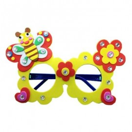 image of CHILDREN CARTOON STEREOSCOPIC GLASSES HANDMADE STICKUP EDUCATIONAL TOY (YELLOW, BUTTERFLY) Butterfly