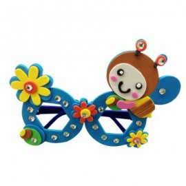 image of CHILDREN CARTOON STEREOSCOPIC GLASSES HANDMADE STICKUP EDUCATIONAL TOY (BLUE, BEE) Bee