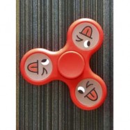 image of SMILING FACE STREE RELIEF TOY TRIANGLE FIDGET SPINNER (BRIGHT RED) -