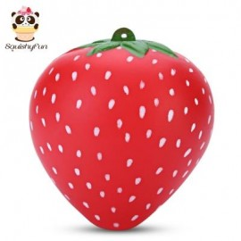 image of SQUISHYFUN PU SLOW RISING SIMULATE STRAWBERRY FRAGRANT TOY (RED) -