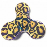 image of COLOURED OIL PAINTING HAND SPINNER EDC TOY FINGER GYRO (LEOPARD) -