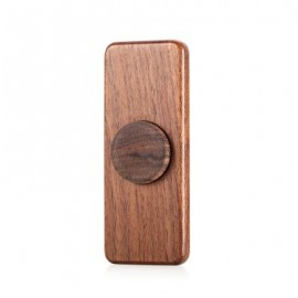 image of SQUARE WALNUT HAND SPINNER STEEL BEARINGS FINGER TOY (DUN) -