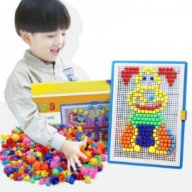 image of 296PCS MOSAIC PICTURE PUZZLE TOY CHILDREN COMPOSITE INTELLECTUAL EDUCATIONAL MUSHROOM NAIL KIT (MIXCOLOR) 0