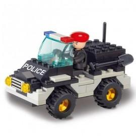 image of SLUBAN BUILDING BLOCKS EDUCATIONAL KIDS TOY RIOT POLICE JEEP CAR 88PCS (MIXCOLOR) 0