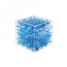 image of 3D LABYRINTH BALL CUBE TOY (BLUE) 0