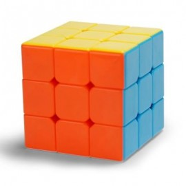 image of CHILDREN PUZZLE TOY 5.7CM HIGH-QUALITY SMOOTH THREE-ORDER RUBIK CUBE (COLORFUL) 0