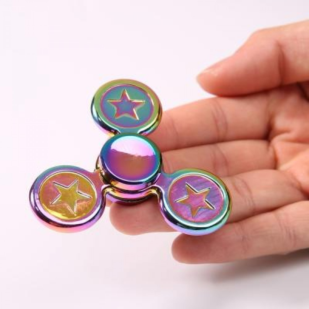FIDGET TOY STAR COLORFUL METAL GYRO HAND SPINNER 7.5*7.5*1.5CM