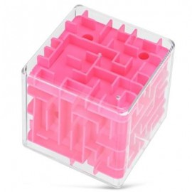 image of CREATIVE INTELLECT 3D LABYRINTH CHALLENGING EXPLORATION BRAIN TEASER PUZZLE GAME CHRISTMAS GIFT (PINK) -