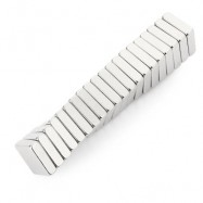 image of 20PCS N35 10 X 10 X 3MM STRONG NDFEB SQUARE MAGNET BIRTHDAY DIY INTELLIGENT GIFT (SILVER) -