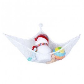 image of JUMBO TOY HAMMOCK PET NET FOR STUFFED ANIMALS TOY ORGANIZER KIDS GADGET (WHITE) -