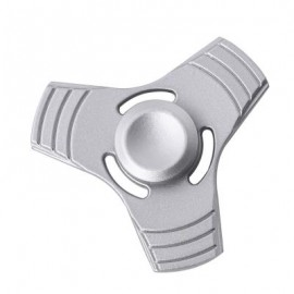 image of THREE-BLADE FINGER SPINNER PRESSURE REDUCING TOY (SILVER) -