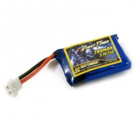 image of GIANT POWER 3.7V / 1S 25C 200MAH MINI LI-PO BATTERY FOR HISKY FBL80 6CH RC MODEL (COLORFUL) -