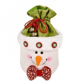image of LOVELY CHRISTMAS GIFT BOX BAG NOVELTY ORNAMENT FOR HOLIDAY PARTY (COLORMIX) SNOWMAN