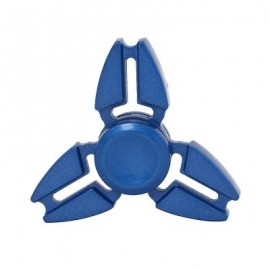 image of TRILATERAL ZINC ALLOY HAND SPINNING FINGER TOY (BLUE) -