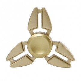 image of TRILATERAL ZINC ALLOY HAND SPINNING FINGER TOY (GOLDEN) -
