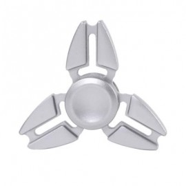 image of TRILATERAL ZINC ALLOY HAND SPINNING FINGER TOY (SILVER) -