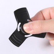 image of HAND SPINNING FIDGET TOY FINGER GYRO FOR AUTISM (BLACK) 6*6CM
