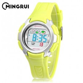 image of MINGRUI 8520 KIDS DIGITAL MOVT WATCH LED LIGHT DATE DAY CHRONOGRAPH DISPLAY 3ATM WRISTWATCH (GREEN) 0